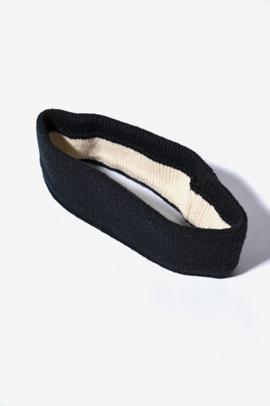 Minimalist ski headband black colour unisex