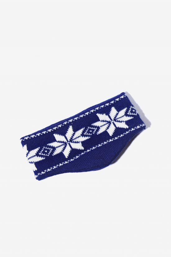 80s ski headband blue white unisex
