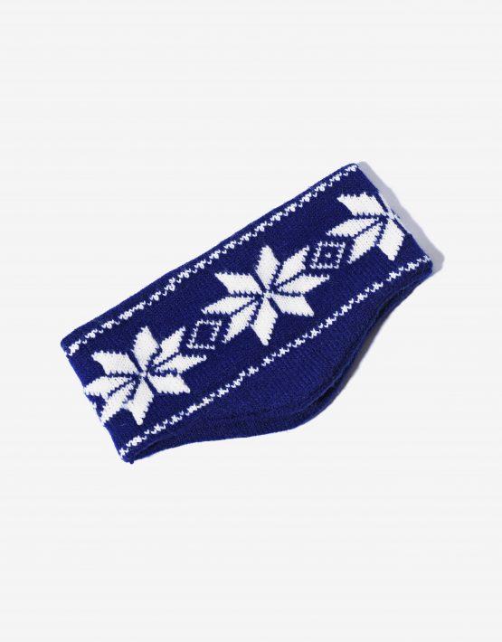 80s ski headband blue
