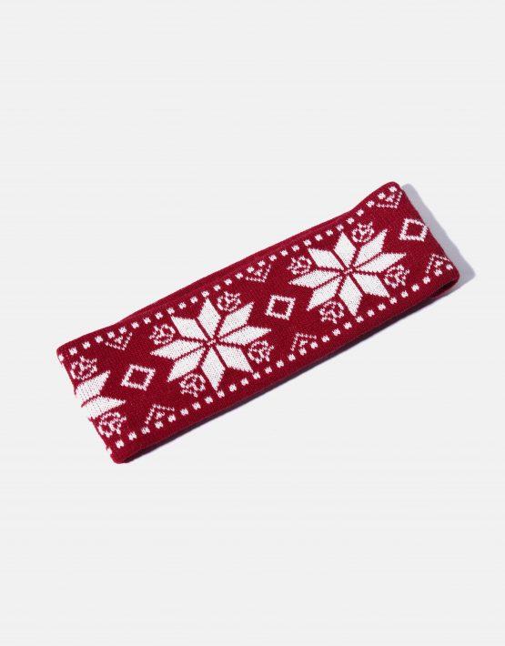 Retro ski headband red