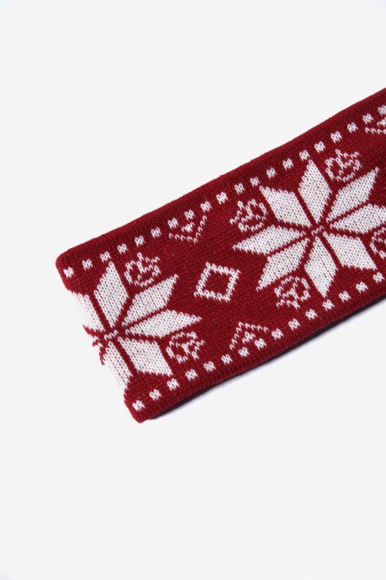 Retro 80s ski headband red white unisex