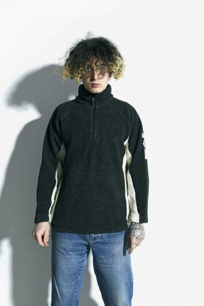 Retro ski fleece black