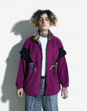 Retro ski fleece jacket