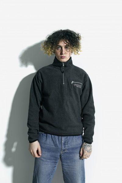 Retro fleece ski pullover