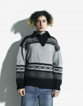 90s sweater grey mens