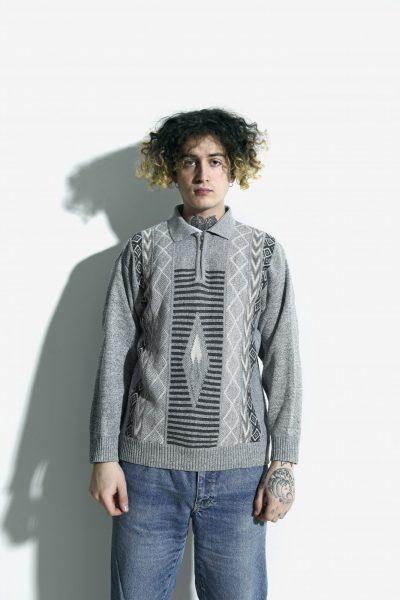 90s retro polo sweater