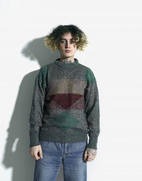 vintage sweater geometric pattern