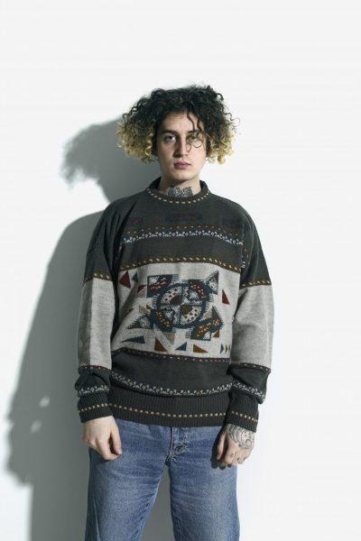 Retro 80s sweater mens