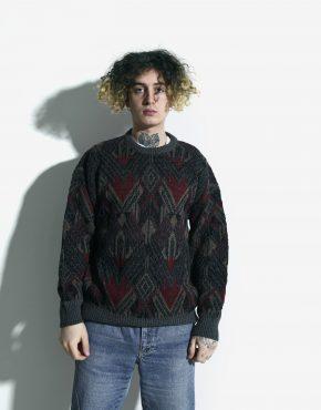 80s sweater men multi
