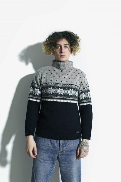 Vintage zip jumper grey