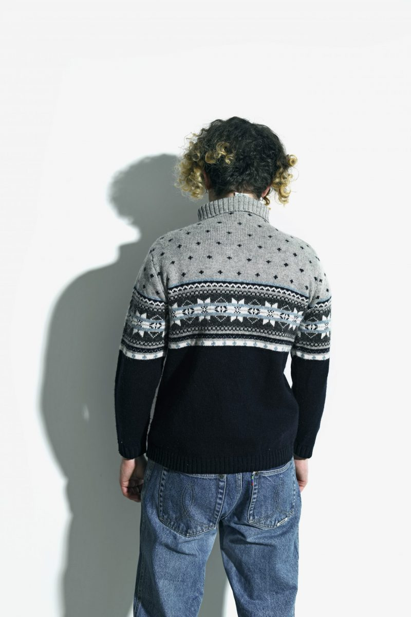 Vintage high neck quarter zip jumper