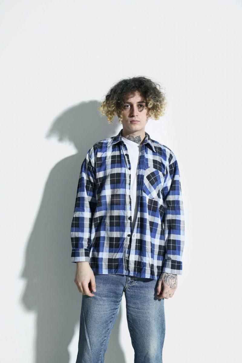 90s flannel shirt men