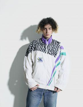 Vintage windbreaker white jacket