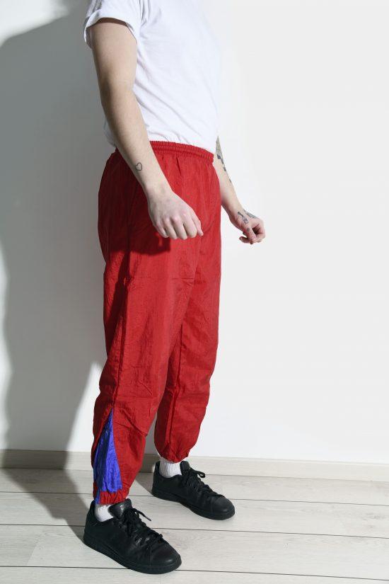 Retro nylon pants red