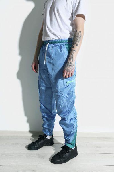 Vintage blue sport trousers