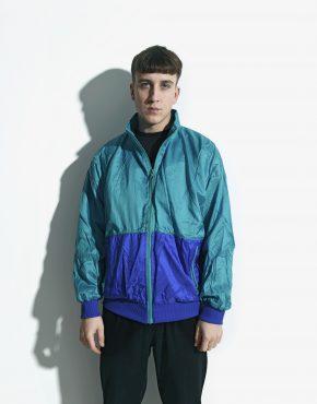 Retro windbreaker green jacket