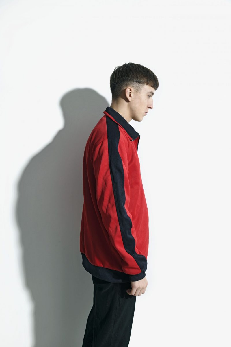 Vintage 70s classic track jacket red