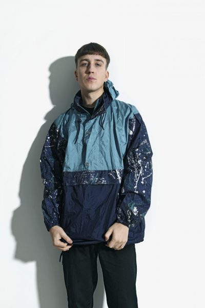 blue abstract vintage jacket