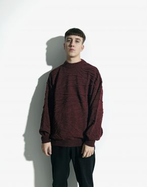 Vintage maroon sweater men
