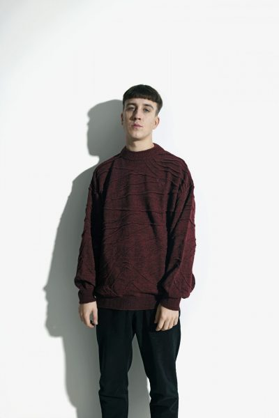 Vintage maroon sweater men