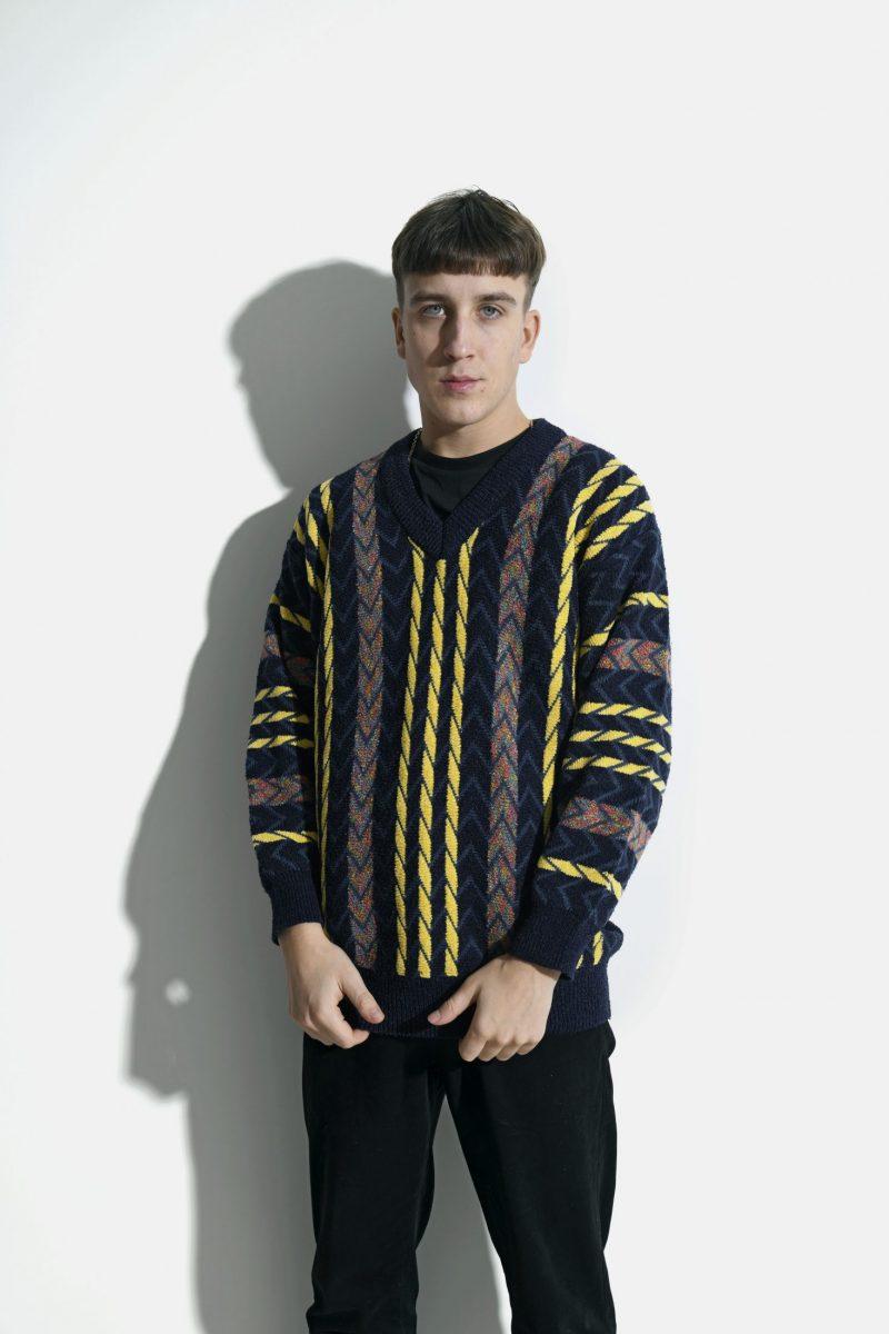 80s vintage sweater multi