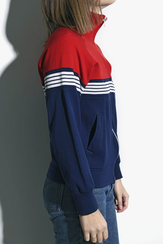 NIKE 70s track jacket womens blue red