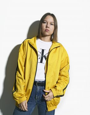 retro sport jacket yellow