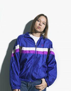 90s blue shell jacket