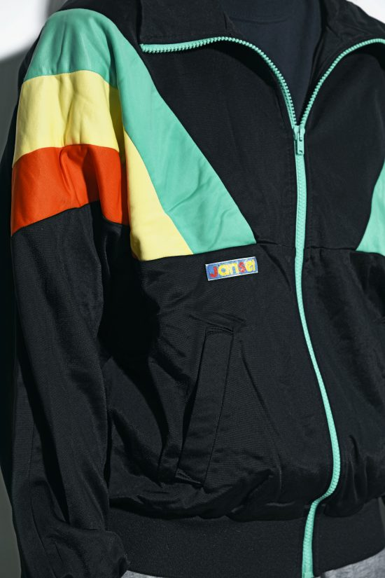80s sport jacket black multi