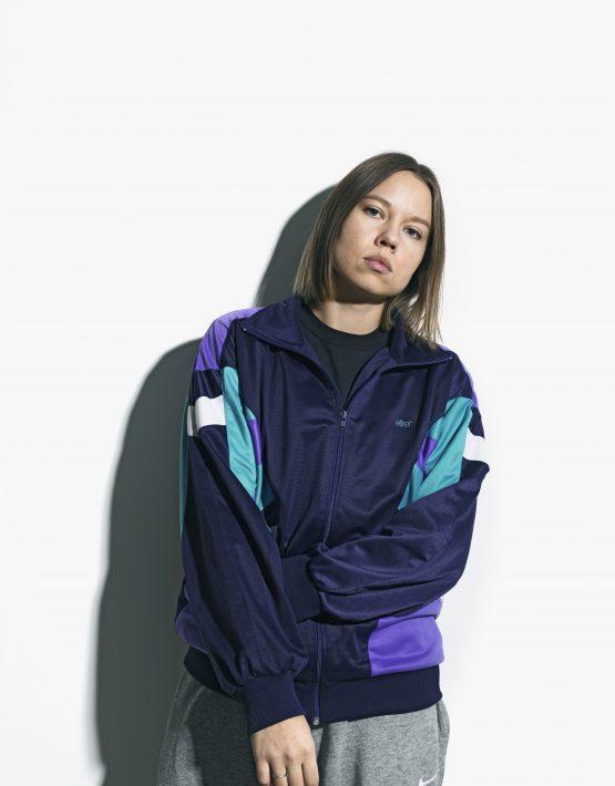Old School blue women jacket