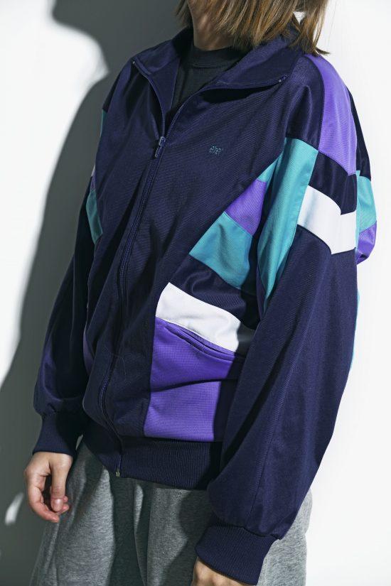 Old School blue track jacket for women
