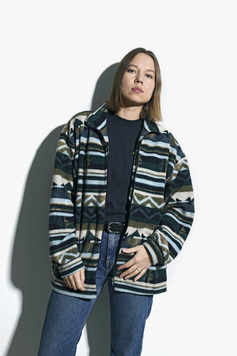Vintage fleece ski jacket