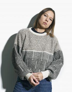 Vintage sweater beige unisex