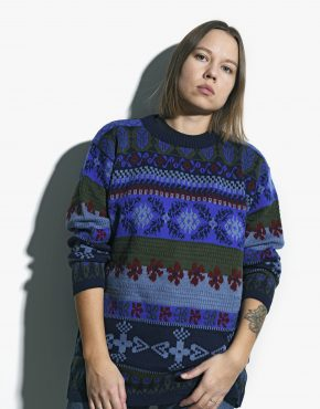 90s multi sweater womens
