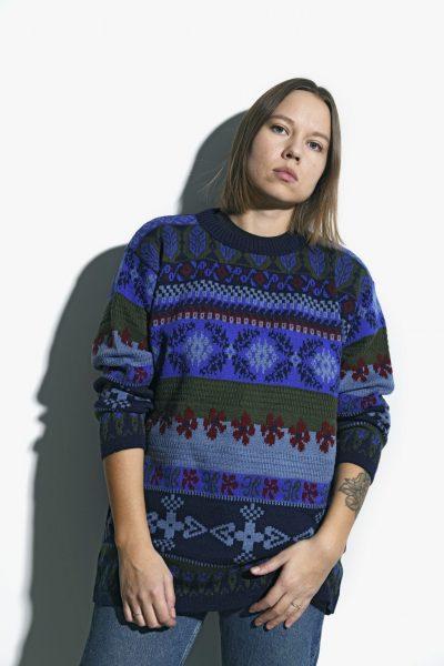 90s multi sweater womens