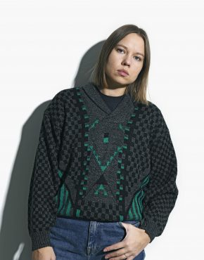 retro sweater grey green