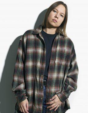 Vintage plaid shirt unisex