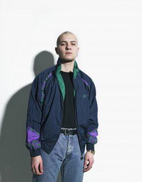 nylon jacket blue vintage