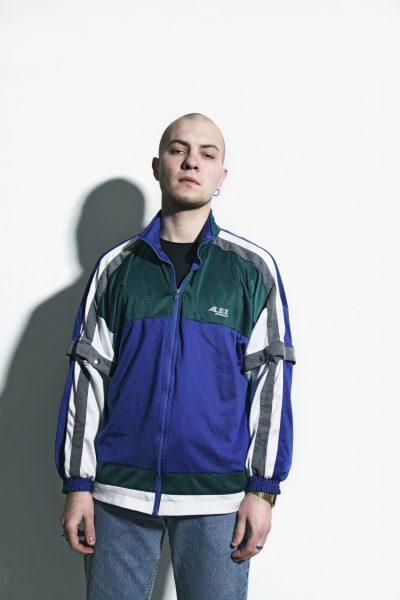 Vintage jacket blue green