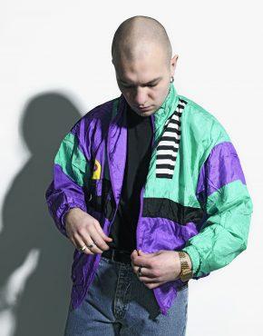vintage multi colour jacket