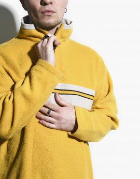 Vintage ski fleece yellow
