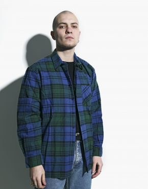 vintage plaid shirt 90s