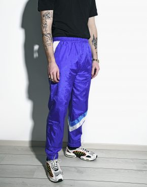 Retro blue sports trousers