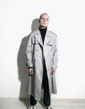 retro detective trench coat