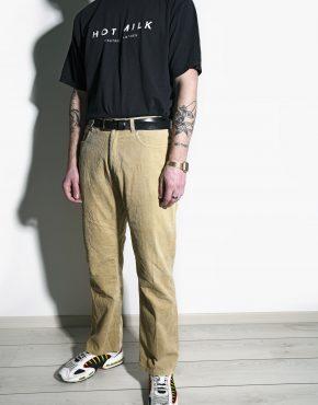 Vintage velvet trousers khaki