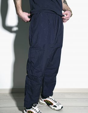 Vintage sport trousers navy