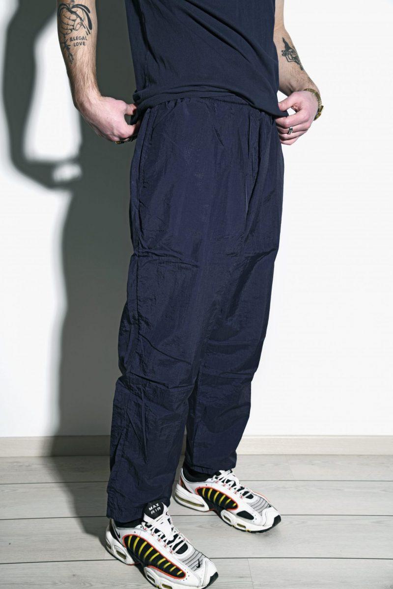 Vintage sport trousers navy