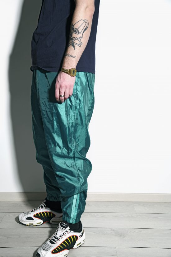 80s vintage mens nylon shell pants
