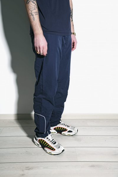 Vintage trousers navy blue