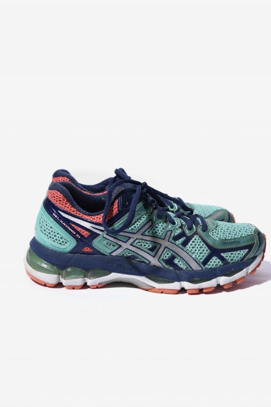 ASICS trainers green orange